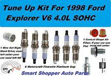 Tune Up for 1998 Ford Explorer V6 4L Spark Plug Wire Set, Oil Air Fuel Filter