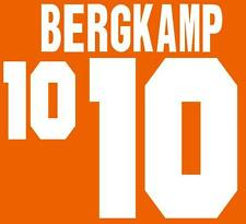World Cup 1994 Bergkamp 10 Home Football Name set for National shirt