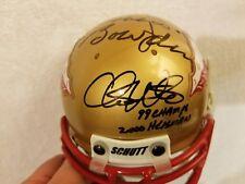 Bobby Bowden - Charlie Ward - Chris Weinke Signed Florida State Mini Helmet -JSA