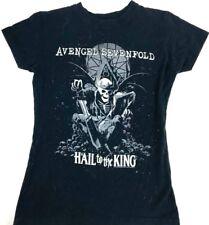 Avenge Sevenfold shirt Girl's shirt Capped sleeve shirt black tee Concert tee S