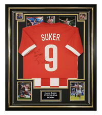 Signed Davor Suker Jersey - Shirt Framed Croatia Icon +COA