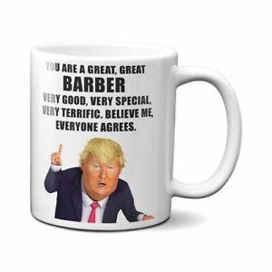 PRESIDENT DONALD TRUMP BARBER COFFEE MUG