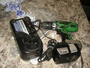 Hitachi ds 18dvf3 drill with battery and charger  lot used  WORKS  #4 B968