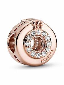 Pandora Charm Bead 789059C01 Open Centre Pavé Crown O ALE MET