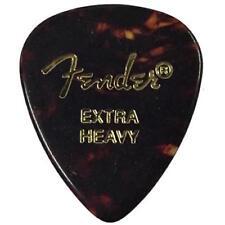 Fender 451 Classic Celluloid Guitar Picks, SHELL - EXTRA HEAVY, 12-Pack (Dozen)