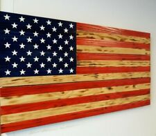 """Beautiful Wooden United States Flag Approx. 19""""X37"""""""