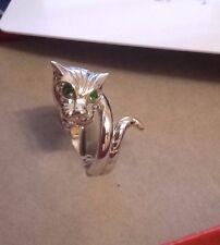 Drachen - Ring russischer Chrom-Diopsid , 925er Sterlingsilber, Gr. 17, Juwelo