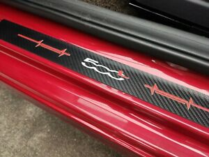 For Fiat 500L Auto Accessories Car Door Sill Strip Scuff Plate Leather Protector