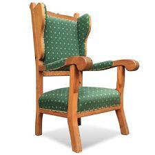 Ohrensessel Stuhl Sessel Armlehnstuhl Weichholz groß