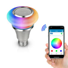Wireless E27 LED RGB Bluetooth Light Bulb Speaker 8W Power Smart Music Lamp