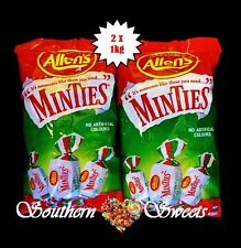 ALLENS MINTIES BULK LOLLIES 2 X 1KG BAGS 2KG BULK BUY green white candy buffet