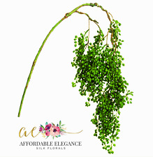 """String of Pearls 31"""" Hanging Succulent Pick Filler Greenery Real Touch Plant"""