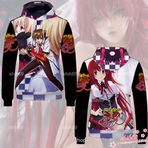 Anime High School DxD Rias Gremory Hoodie Sweatshirt Jacket Coat Cosplay #H54F