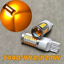 Rear Turn Signal Light T20 7440 7441 992 W21W 33 samsung SMD LED Amber Bulb W1 J