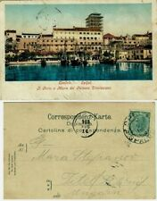 GG420-CROAZIA, SPLIT- SPALATO, IL PORTO E MURA DEL PALAZZO DIOCLEZIANO, 1903