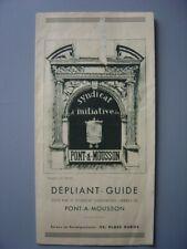 Ancien dépliant touristique  Guide de PONT-A-MOUSSON  Pont-à-Mousson