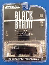 2017 GreenLight BLACK BANDIT 1976 VOLKSWAGEN TYPE 2 DOUBLE CAB PICKUP mint!