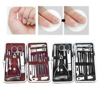 19pcs Stainless Steel  Manicure Pedicure Nail Care Set Cutter Cuticle Clippers