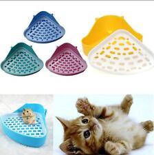 Pet Cat Corner Litter Pee Tray Rabbit Kitten Hamster Small Animal Plastic Toilet
