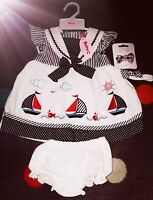 New Baby Girls Age 6-9 Months party Dress 4 Piece Set Romany Spanish Style cute