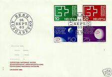 SWITZERLAND, 1963, FDC, SCOTT # 430-433, MICHEL # 782-785