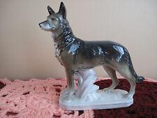 Art Deco 1930s Kunst Porcelain German Shepard Dog  Figure