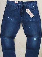 Levi's 511 Slim Straight Leg Jeans Men Size 33 X 34 Vintage Dark Distressed Wash