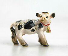 JAY STRONGWATER MABEL BABY COW FIGURINE SWAROVSKI CRYSTALS BRAND NEW BOX