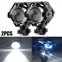 2Pcs Moto U5 LED Driving Fog Spot Light Lamp Headlight For Harley Honda BMW