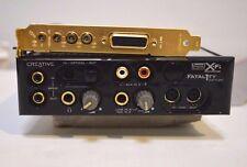CREATIVE SOUND BLASTER CARD SB460 + FRONT PANEL SB0250 FATLI1TY  X-FI