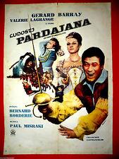 HARDI PARDAILLAN 1964 GERARD BARRAY VALERIE LAGRANGE RARE EXYU MOVIE POSTER 1966