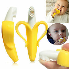 Baby Banana Infants Soft Safe Teether Chewable Bendable Training Toothbrush New