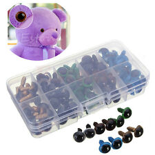 100pc 12mm Plastic Safety Eyes For Teddy Bear Doll Animal Puppet Craft 5 Colors