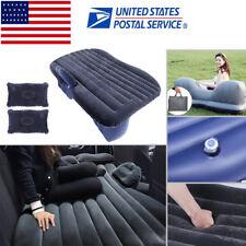 US Car Air Bed Travel Back Seat Cushion Inflatable Mattress Outdoor Sofa Camping