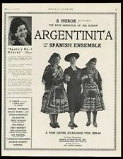 1939 La Argentina Argentinita photo Spanish dance tour trade booking ad