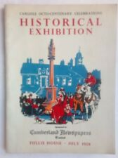 CARLISLE OCTO-CENTENARY CELEBRATIONS HISTORICAL EXHIBITION.JULY 1958 ILLS TULLIE