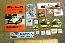 Ayrton Senna: Large Sticker Set #1 Brazil Formula One World Champion McLaren