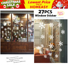 27PCS Snowflake Christmas Wall Decals Vinyl Window Sticker Kids Removable Decor
