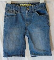 Boys Primark Blue Denim Adjustable Waist Long Board Shorts Age 4-5 Years