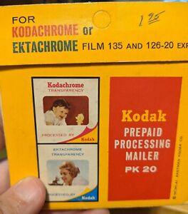Kodak Kodachrome Ektachrome Prepaid Processing Mailer