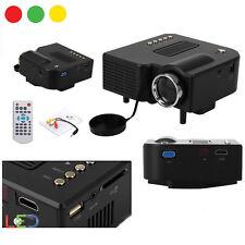 VIDEOPROIETTORE MINI LED HD HDMI PROIETTORE PORTATILE USB SD AV VGA HOME CINEMA