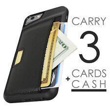 Soft Leather Wallet Case Card Cash Holder Shockproof Cover For iPhone 6 6S Black