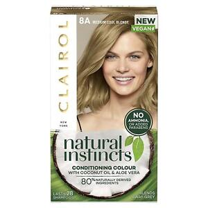 Clairol Natural Instincts Semi-Permanent No Ammonia Hair Dye - 8A, Medium Blonde