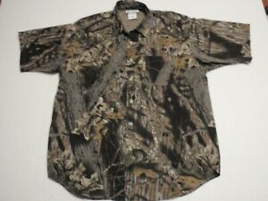 Columbia Sportswear Mossy Oak Break Up Camouflage Button Up Shirt Men Medium