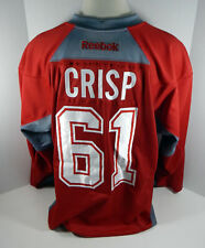 Montreal Canadiens  Connor Crisp #61 Game Used Red Practice Jersey