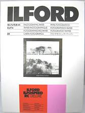 "Ilford Ilfospeed RC Deluxe 5""x7"" 50 sheets Glossy Black & White Paper"
