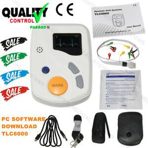 CONTEC TLC6000 Dynamic 48hours 12 Lead ECG/EKG Holter Monitor Alalyzer Software