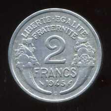 2 FRANCS  morlon alu 1945 C      ( 1 )