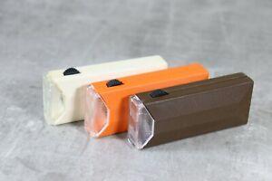 3 Stück Taschenlampe DDR Kleinleuchte vintage Narva Artas weiß braun orange 5210