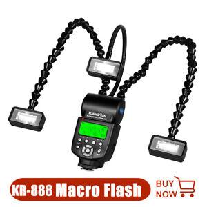 KR-888 Macro Flash 3Pcs Flash Light Head LED Speedlite for Camera DSLR Universal